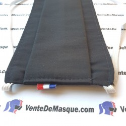 Tissu coton - noir