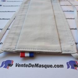 Tissu coton - blanc