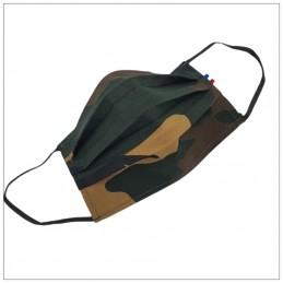 Masque 3 Plis Camouflage Foncé