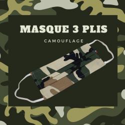 Masque 3 Plis Camouflage