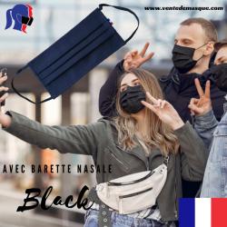 Masque tissu noir