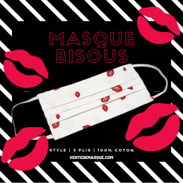 Masque 3 Plis Bisous